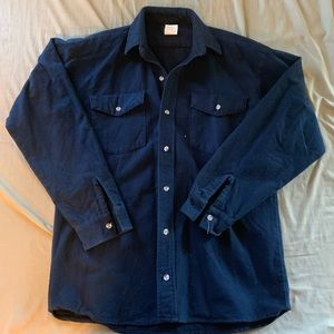 Vintage Thick Cotton Button Down Shirt
